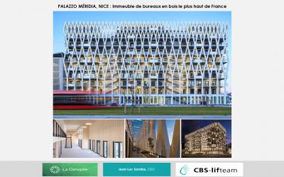 CBS-Lifteam – Le Palazzo Nice Méridia, l'immeuble de bureaux en structure bois le plus haut de France