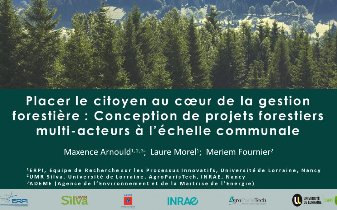 Projets forestiers multi-acteurs à l'échelle communale