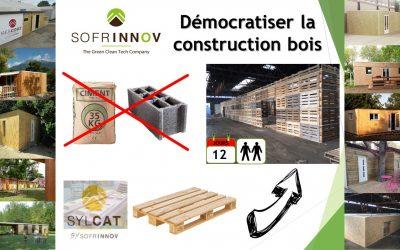 Sofrinnov, démocratiser la construction bois grâce aux palettes