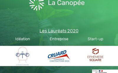 [Communiqué de Presse] Cruard Charpente, Ephemere Square et le fauteuil OTO remportent la finale nationale du Concours La Canopée